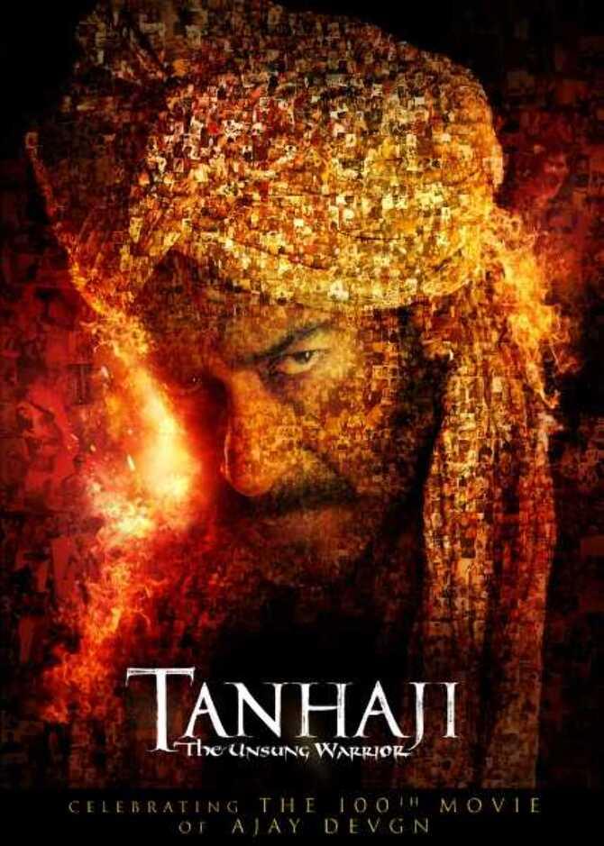 Ajay Devgn 100th film Tanhaji   The Unsung Warrior New Poster