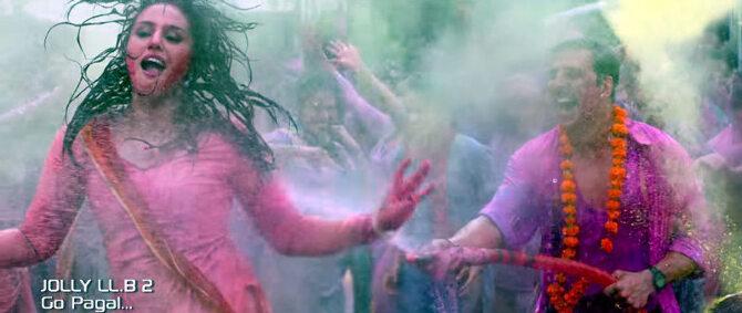 Huma Qureshi  Akshay Kumar Jolly LLB 2 Go Pagal Song Stills  9