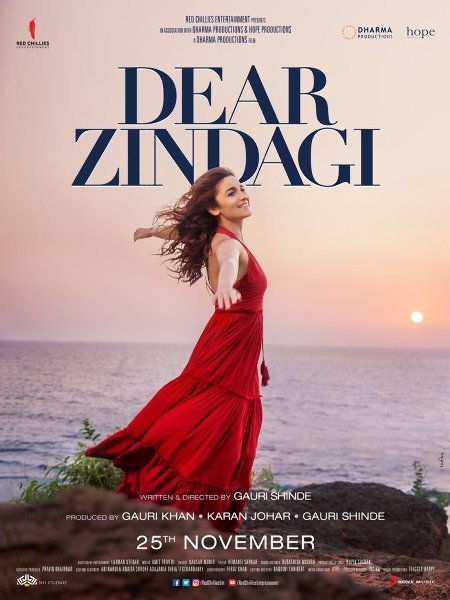 Alia Bhatt Dear Zindagi Movie Poster