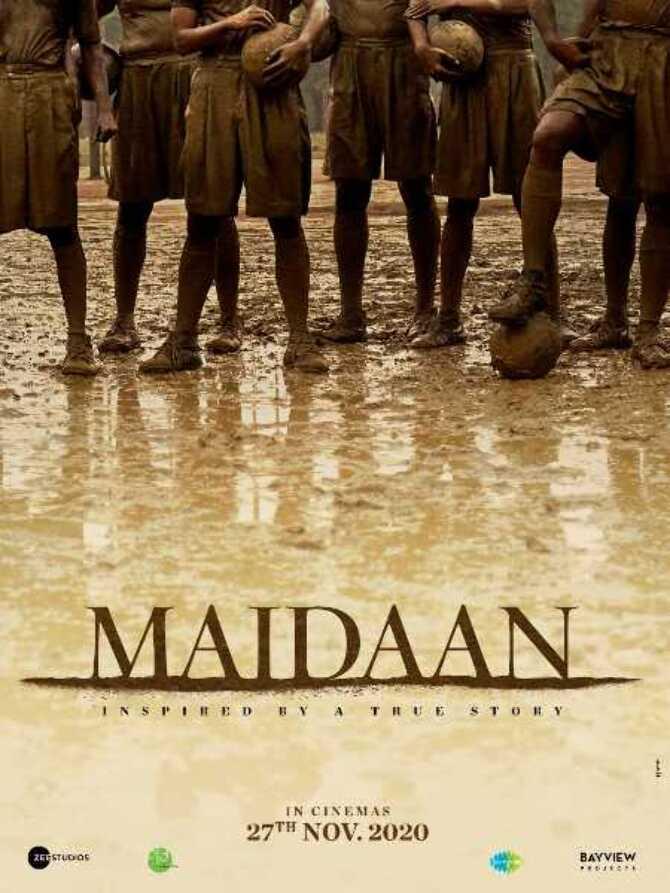 Ajay Devgn Teaser poster of Maidaan