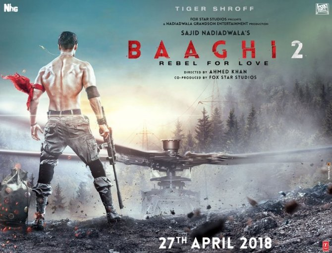 Tiger Shroff Baaghi 2 Movie First Look
