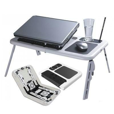 e table foldable laptop table with 2 usb fans rediff shopping