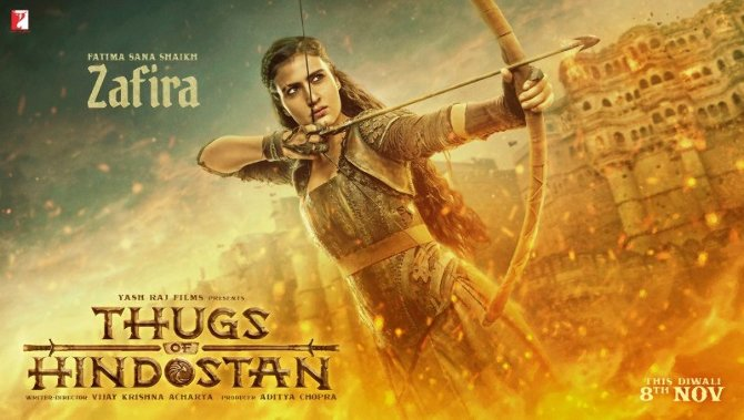FATIMA SANA SHAIKH as ZAFIRA in Thugs Of Hindostan Hindi Movie First Look