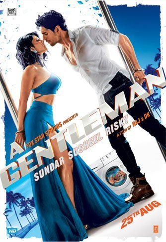 Jacqueline Fernandez and Sidharth Malhotra  A Gentleman Movie Poster