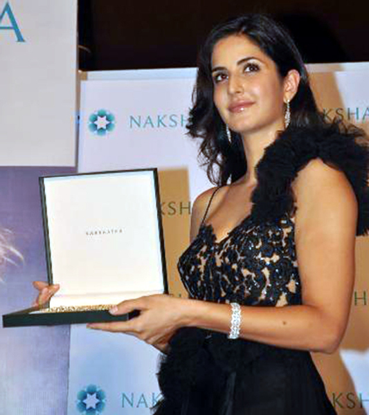 Brand Ambassador Katrina Kaif unveiling the new logo brand campaign GLOW DIVINE for Nakshatra Diamonds Photo
