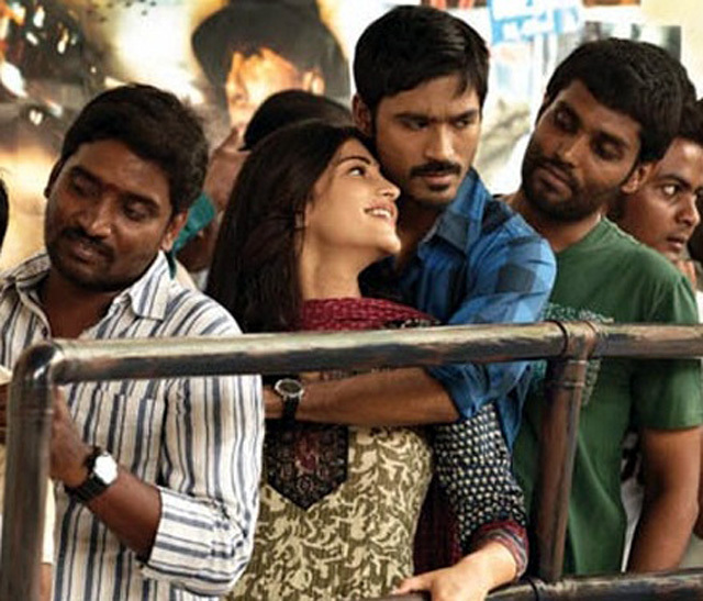 Dhanush and Shruti Hassan 3 Movie Pic