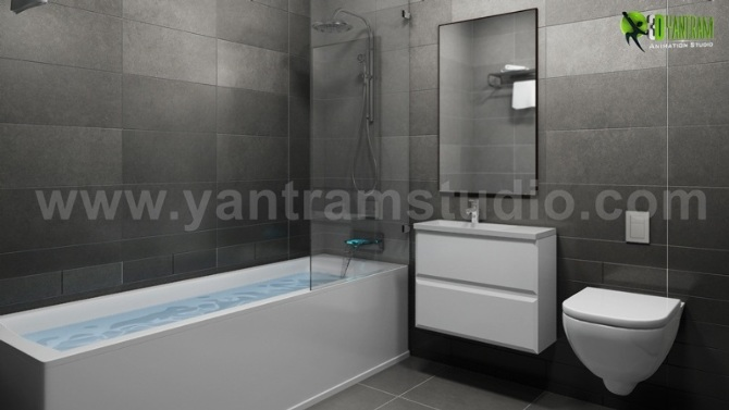 The Modern Concepts For A Bathroom 3D Interior Designers