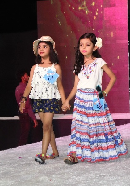 kids walking the ramp on the kiddies fashion show 2019